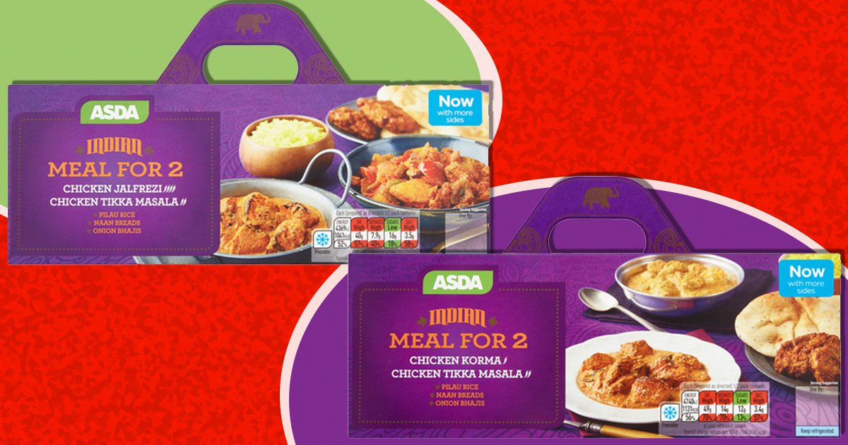 Curry and Chinese feast boxes are currently a fiver at Asda