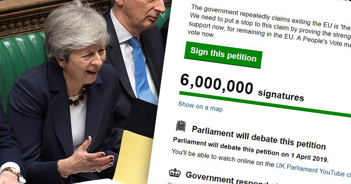Revoke Article 50 petition to stop Brexit hits 6,000,000 signatures – but it's still rejected