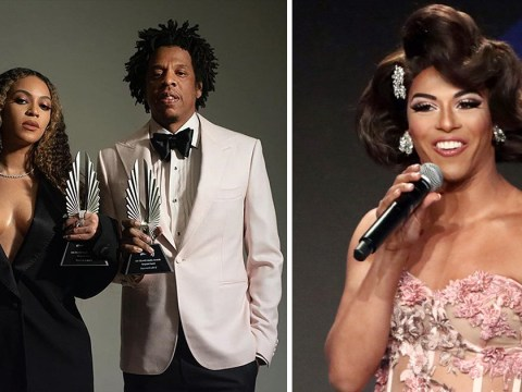 Beyonce cheered so hard for Shangela's GLAAD awards tribute she was left with a 'run in her tights'