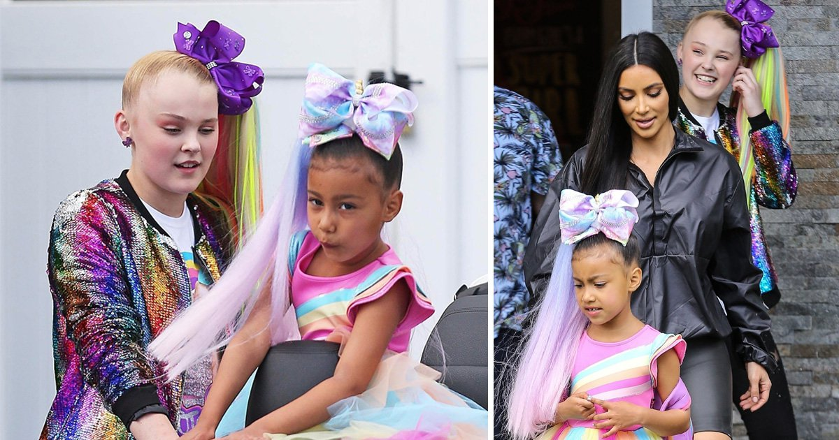 North West is JoJo Siwa's mini-me as she collaborates with her YouTube idol