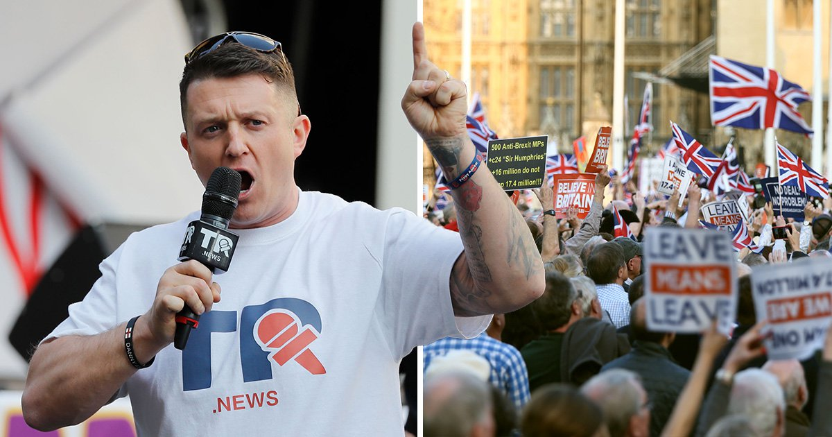 Tommy Robinson manages to make pro-Brexit rally about himself