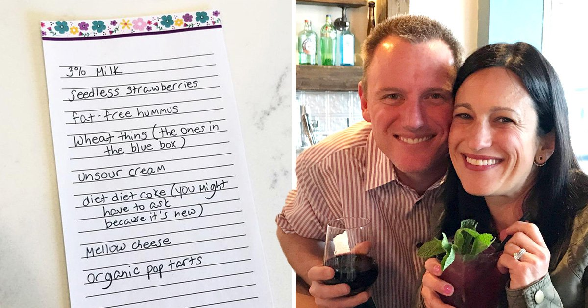 Woman gives husband fake shopping list to prank him for being lazy around the house