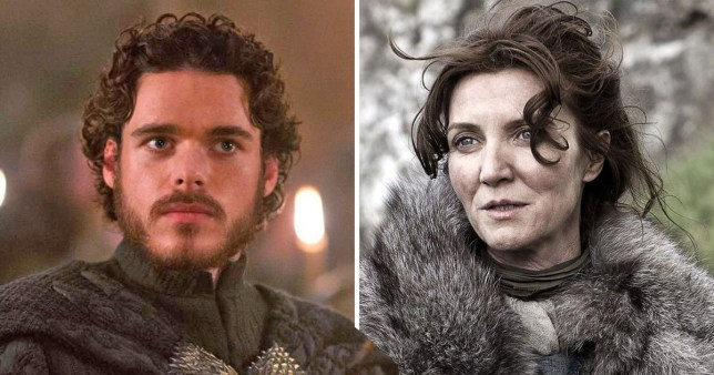 catelyn stark and her son robb stark in game of thrones