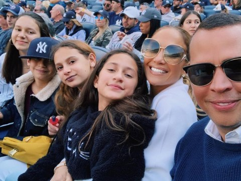 Jennifer Lopez and Alex Rodriguez are couple goals as they enjoy family fun at Yankees game