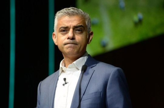 LONDON, ENGLAND - DECEMBER 12: Sadiq Khan, Mayor of London during The Climate Change Conference held at Bloomberg London on December 12, 2018 in London, England. (Photo by SAV/Getty Images)