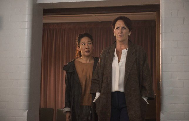 For use in UK, Ireland or Benelux countries only Undated BBC handout photo of Eve (left), played by Sandra Oh, and Carolyn Martens, played by Fiona Shaw, in season two of Killing Eve. PRESS ASSOCIATION Photo. Issue date: Monday December 24, 2018. See PA story SHOWBIZ KillingEve. Photo credit should read: Parisa Taghizadeh/BBC America/BBC/PA Wire NOTE TO EDITORS: Not for use more than 21 days after issue. You may use this picture without charge only for the purpose of publicising or reporting on current BBC programming, personnel or other BBC output or activity within 21 days of issue. Any use after that time MUST be cleared through BBC Picture Publicity. Please credit the image to the BBC and any named photographer or independent programme maker, as described in the caption.