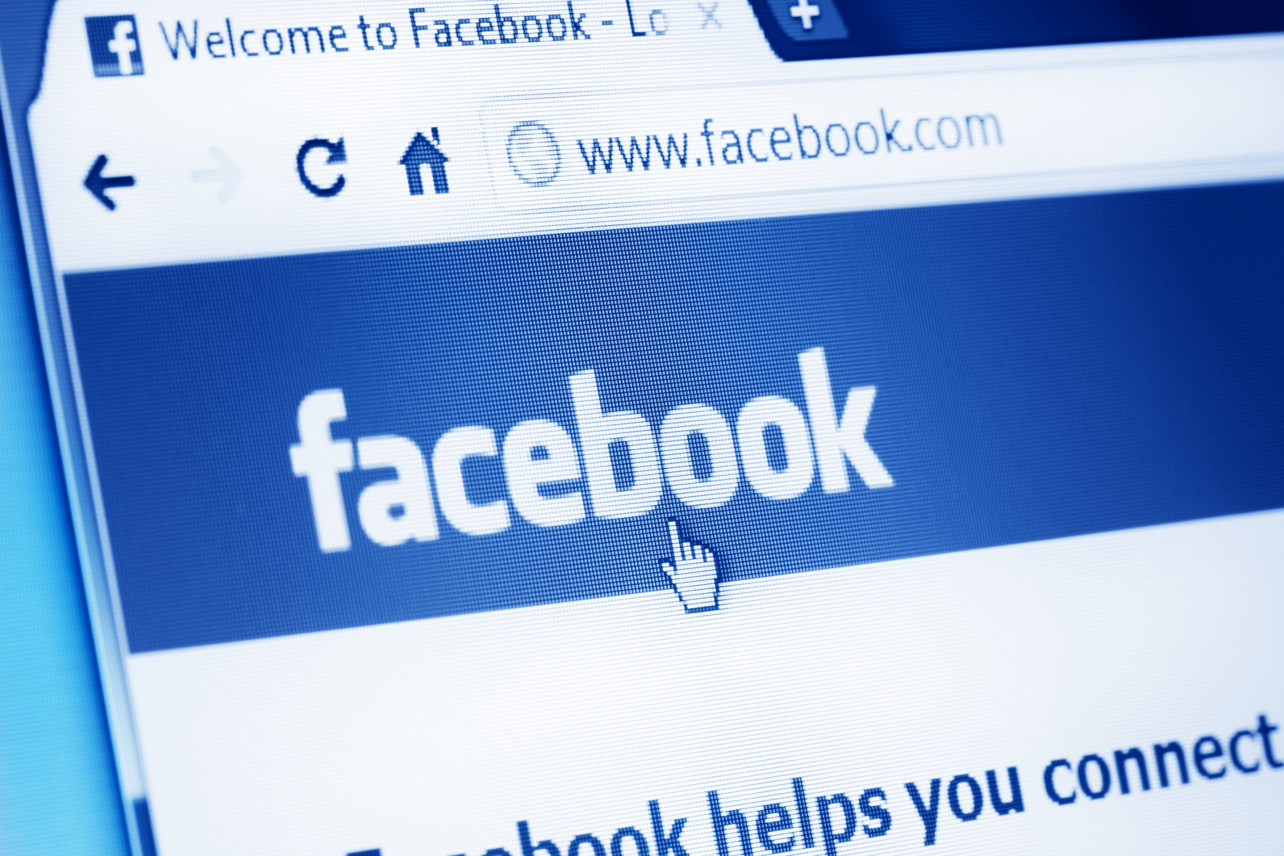 Time waster called police because Facebook went down for him Krasnoyarsk, Russia - June 13, 2011: Facebook main webpage on Google Chrome browser on LCD screen