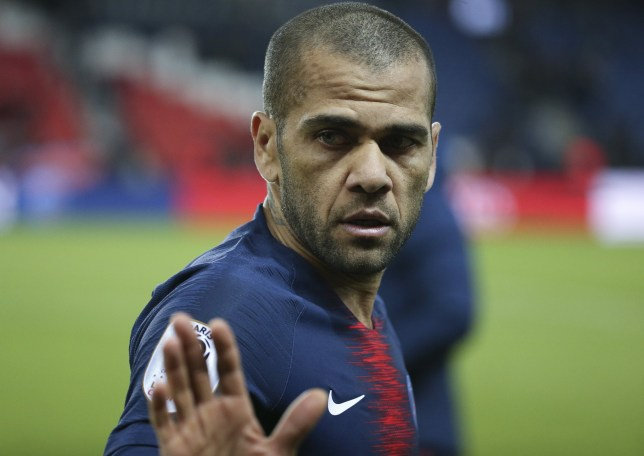 PARIS, FRANCE - FEBRUARY 9 : Dani Alves of PSG during the french Ligue 1 match between Paris Saint-Germain (PSG) and Girondins de Bordeaux at Parc des Princes on February 9, 2019 in Paris, France. (Photo by Jean Catuffe/Getty Images)