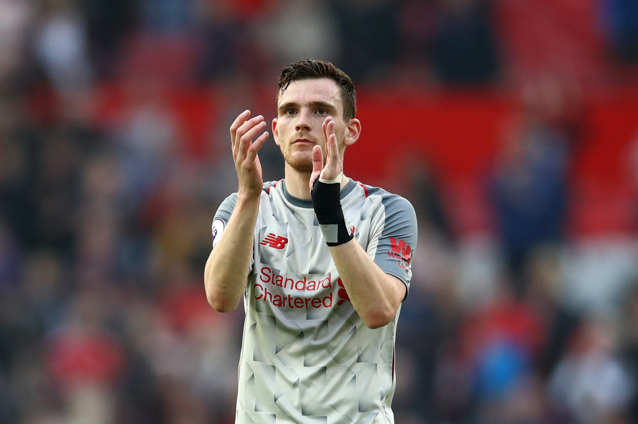 Andy Robertson to miss Liverpool's Champions League quarter-final first leg through suspension