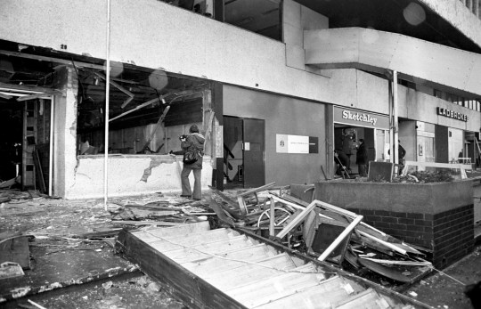 File photo dated 22/11/74 of the aftermath of the fatal bomb attack on the Mulberry Bush pub in Birmingham. The inquest into the Birmingham pub bombings opens at Birmingham Civil Justice Centre today. PRESS ASSOCIATION Photo. Issue date: Monday February 25, 2019. The inquests are the culmination of years of campaigning by relatives of the dead for a full account into the circumstances of what happened on the night of November 21, 1974 where 21 people died in the the Tavern in the Town and Mulberry Bush bombings. See PA story INQUEST Birmingham. Photo credit should read: PA/PA Wire