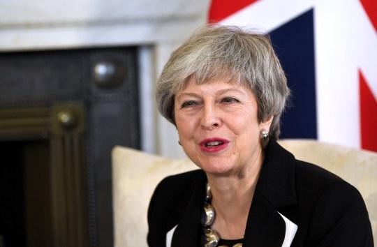 Mandatory Credit: Photo by James Veysey/REX (10123799k) Prime Minister Theresa May holds bi-lateral talks with the King of Jordan in No.10 Downing Street King Abdullah II of Jordan visit to London, UK - 28 Feb 2019