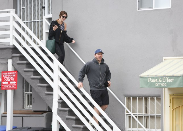 LOS ANGELES, CA - MARCH 01: Katherine Schwarzenegger and Chris Pratt are seen on March 01, 2019 in Los Angeles, California. (Photo by BG004/Bauer-Griffin/GC Images)