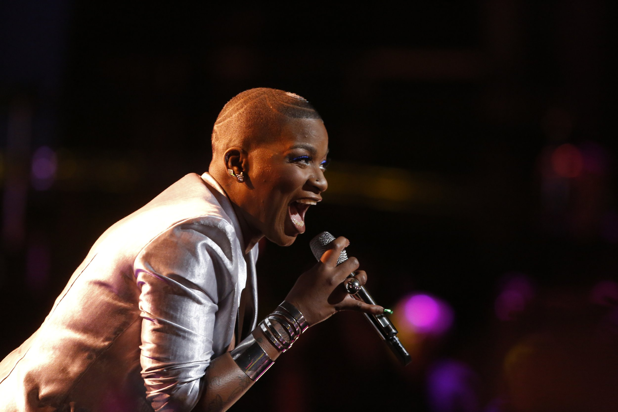"""THE VOICE -- """"Live Top 11"""" Episode 1318A -- Pictured: Janice Freeman -- (Photo by: Trae Patton/NBC/NBCU Photo Bank via Getty Images)"""