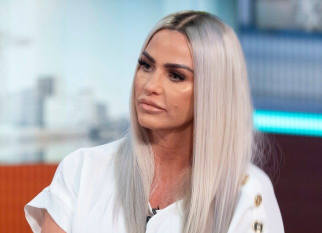 Editorial use only Mandatory Credit: Photo by Ken McKay/ITV/REX (10129909s) Katie Price 'Good Morning Britain' TV show, London, UK - 04 Mar 2019