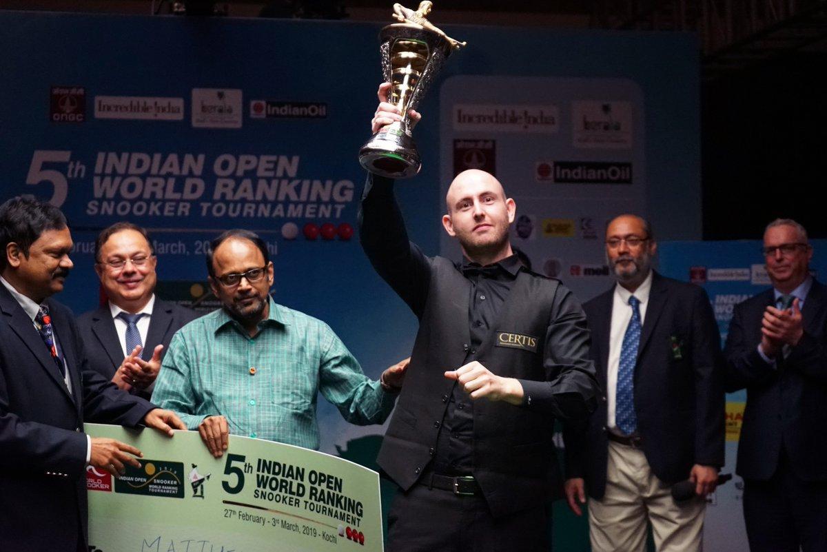 Selt breaks 17 year duck to win title Matthew Selt at the Indian Open Snooker Provider: World Snooker Source: https://twitter.com/WorldSnooker/status/1102271956538208257