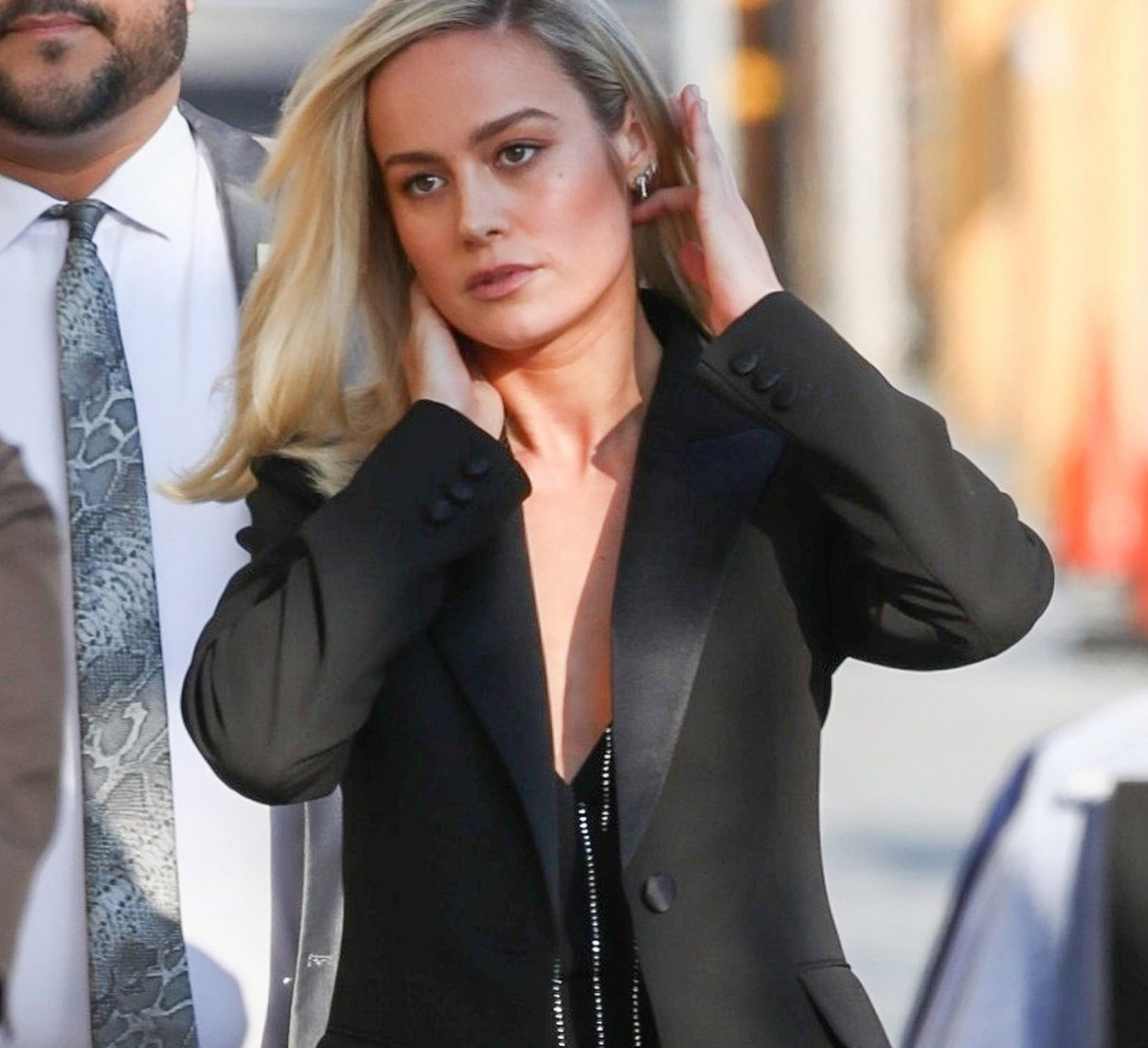 Hollywood, CA - Captain Marvel's Brie Larson arrives at the El Capitan Entertainment Centre in Hollywood for an appearance on Jimmy Kimmel Live! Pictured: Brie Larson BACKGRID USA 4 MARCH 2019 BYLINE MUST READ: NEMO / BACKGRID USA: +1 310 798 9111 / usasales@backgrid.com UK: +44 208 344 2007 / uksales@backgrid.com *UK Clients - Pictures Containing Children Please Pixelate Face Prior To Publication*