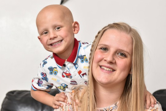 FILE PHOTO Toby Nye at home with mum Stacey Worsley, 30, in Leeds, West Yorks., June 29 2017. See SWNS story SWLEfruad; A mum of a six-year-old boy who died from cancer stole ??100,000 of donation money to fund a gambling habit, a court has heard. Stacey Worsley admitted defrauding the fund set up to pay for her gravely ill son Toby Nye's rare cancer treatment. The 32-year-old pleaded guilty to fraud at Leeds Crown Court less then two months after her son's death. Worsley, whose son's case was supported by Leeds United players and fans, abused her position as a trustee of the fund to spend the money on gambling.