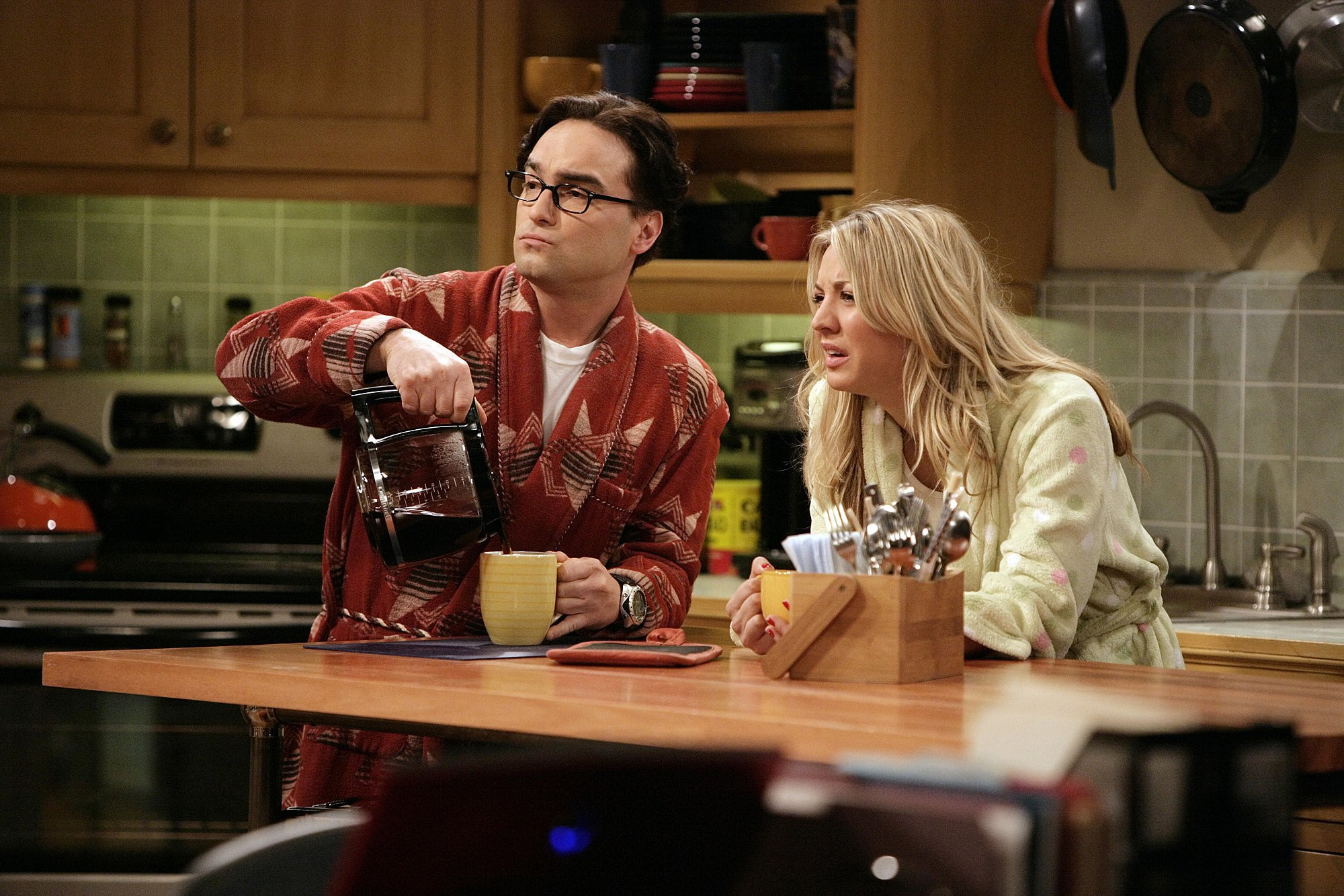 Leonard and Penny in The Big Bang Theory