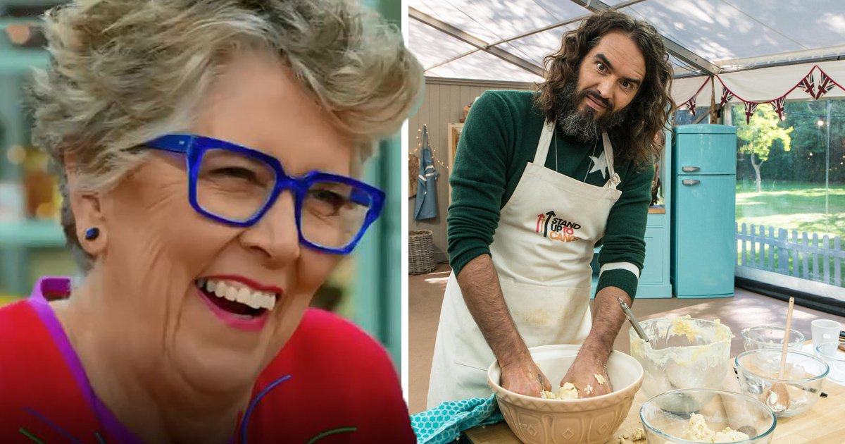 Russell Brand impresses Prue Leith with his vagina biscuit on Celebrity Bake Off: 'It sounds extraordinary'