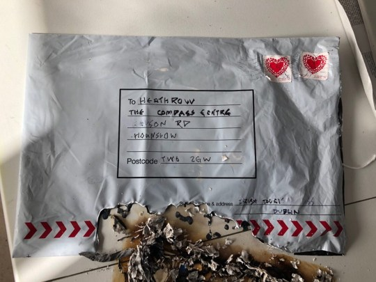 Suspicious packages with 'love Ireland' stamps are found at Heathrow, City Airport and Waterloo: Irish police join terror probe after 'small IEDs' are sent 'from Dublin' to three London transport hubs. HI-RES taken without permission
