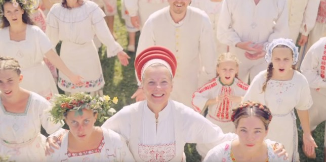 A still from the upcoming horror film Midsommar