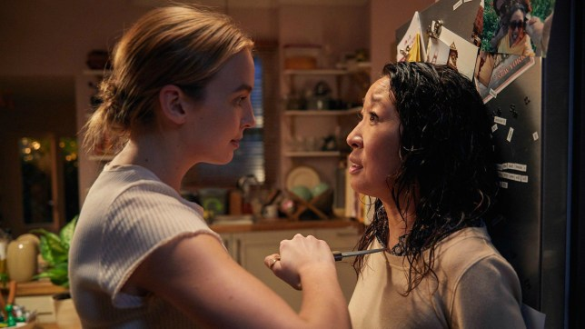Jodie Comer and Sandra Oh in Killing Eve (Picture: BBC)