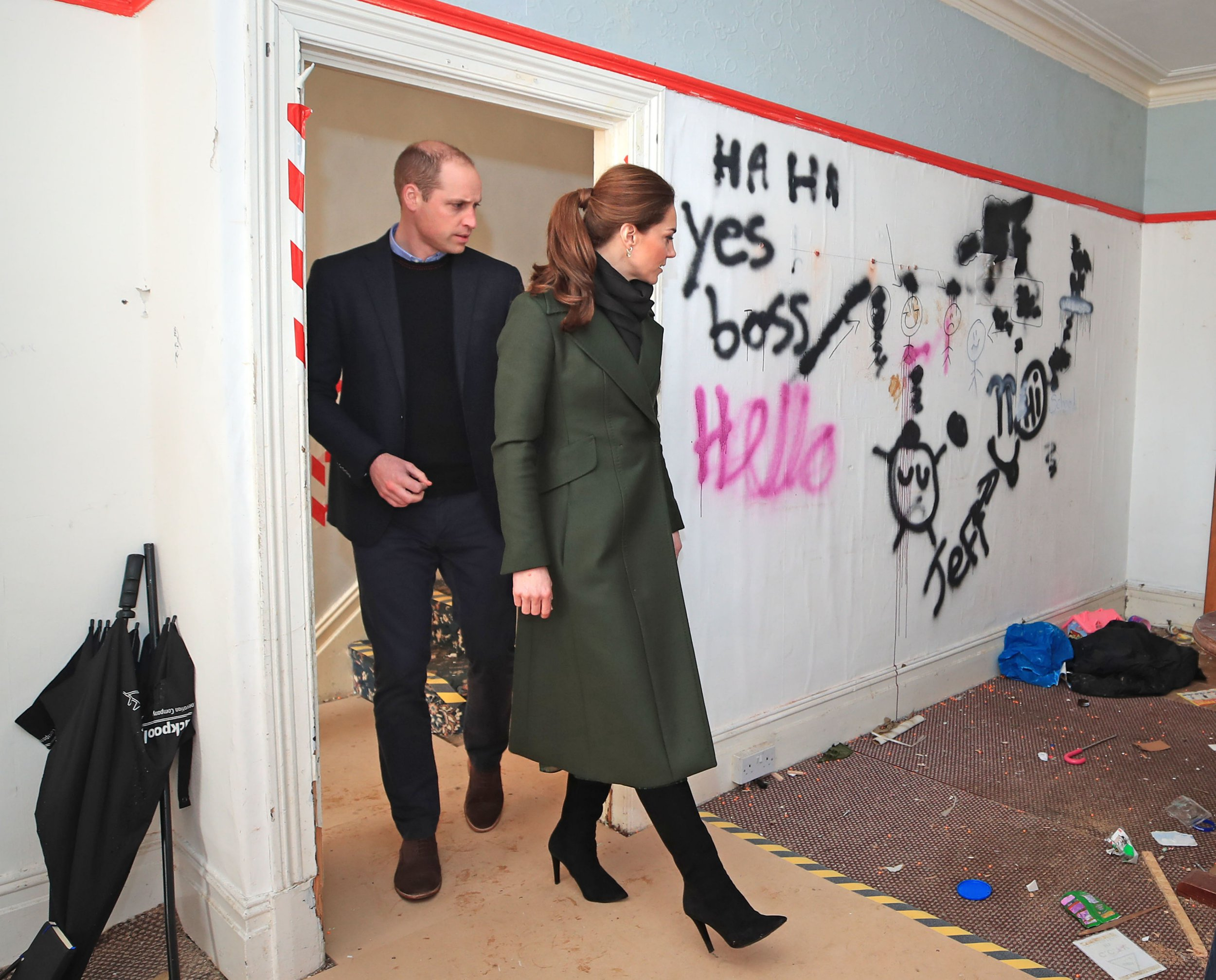 The Duke and Duchess of Cambridge during a visit to Kirby Road in Blackpool, which demonstrates the realities of the housing problem faced in the town. PRESS ASSOCIATION Photo. Picture date: Wednesday March 6, 2019. See PA story ROYAL Cambridge. Photo credit should read: Peter Byrne/PA Wire
