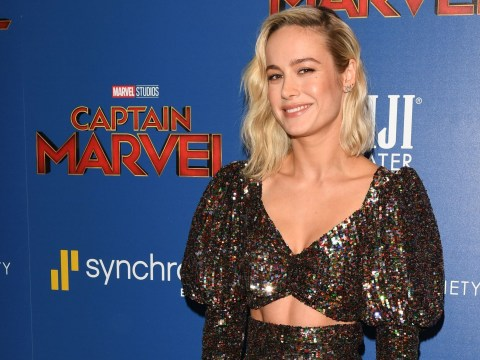 Captain Marvel's Brie Larson proves that not all superheroes wear capes with glittery crop top at premiere