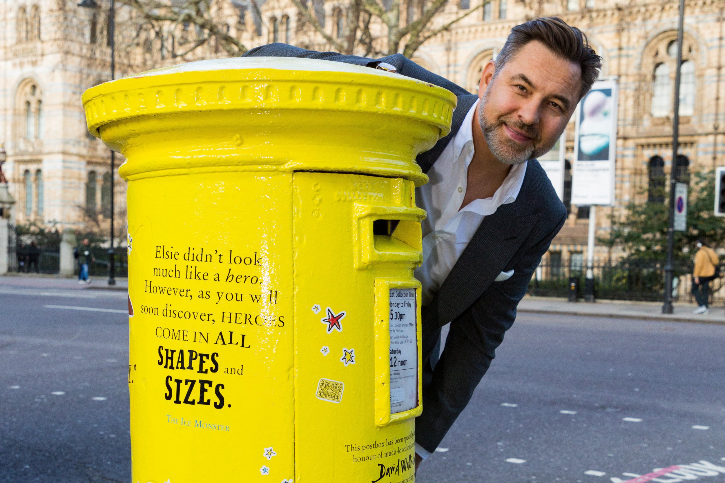 David Walliams honoured with very own postbox and what more could a guy want?