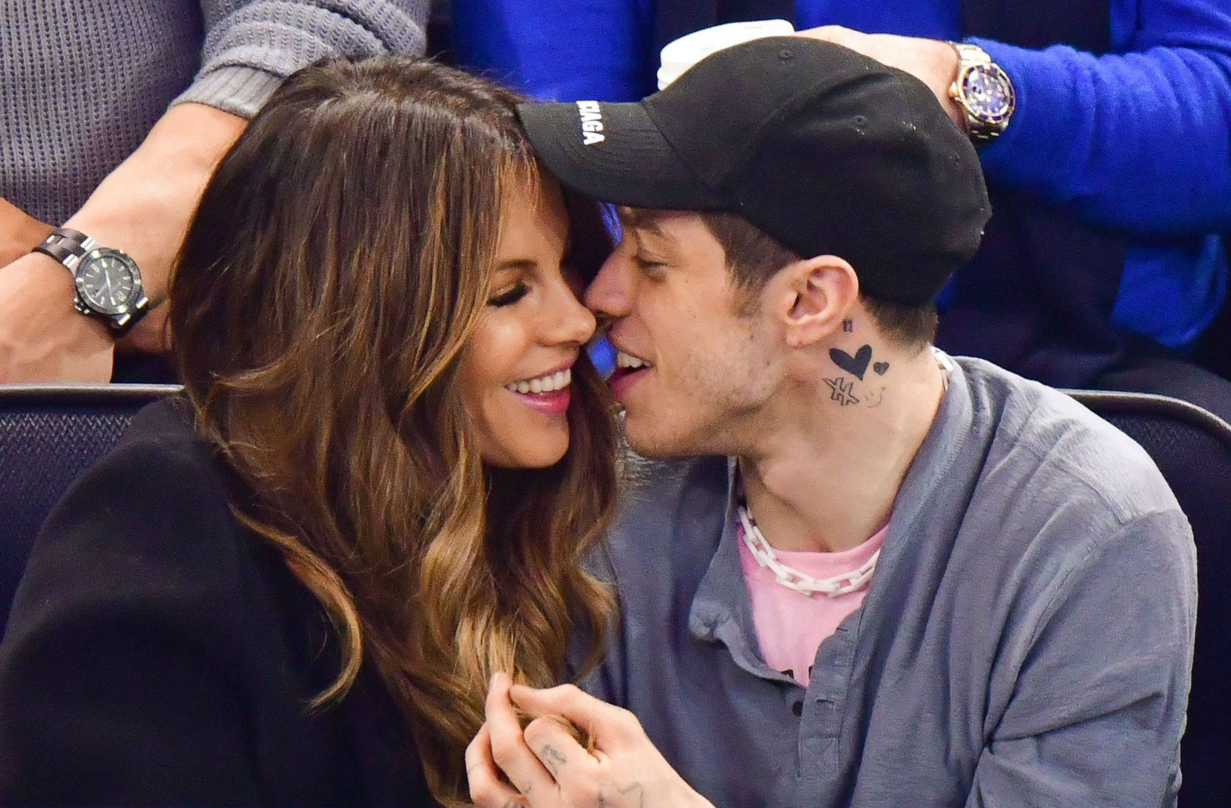 Mandatory Credit: Photo by JD Images/REX/Shutterstock (10129783bc) Kate Beckinsale and Pete Davidson Celebrities attend New York Rangers game, New York, USA - 03 Mar 2019