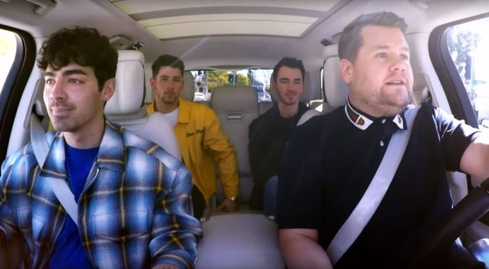 Pic ture: Late Late Show with James Corden Jonas Brothers on Carpool Karaoke
