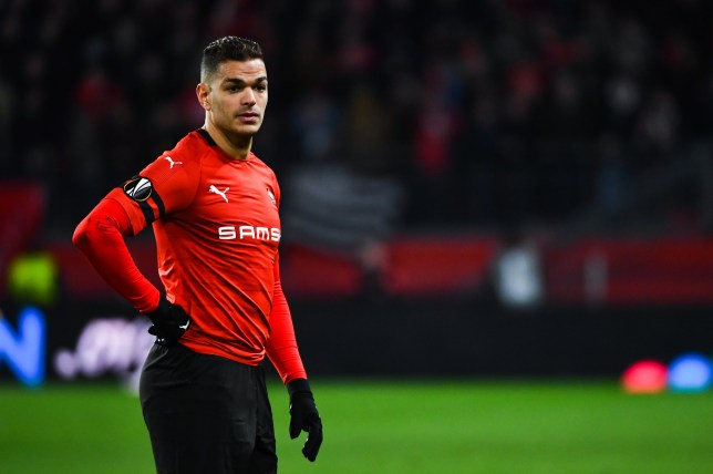 Hatem Ben Arfa of Rennes during the UEFA Europa League 2018/19 Round of 16 First Leg match between Rennes and Arsenal at Roazhon Park on March 7, 2019 in Rennes, France. (Photo by Baptiste Fernandez/Icon Sport via Getty Images)