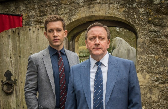 MIDSOMER MURDERS 20 ITV MIDSOMER MURDERS THE GHOST OF CAUSTON ABBEY Pictured: NEIL DUDGEON as DCI John Barnaby and NICK HENDRIX as DS Jamie Winter. This photograph must not be syndicated to any other company, publication or website, or permanently archived, without the express written permission of ITV Picture Desk. Full Terms and conditions are available on www.itv.com/presscentre/itvpictures/terms For further information please contact: Patrick.smith@itv.com 0207 1573044