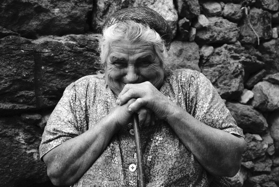 Pyren??es region. Ariege department. Prat-Communal village. Portrait of L??ontine.