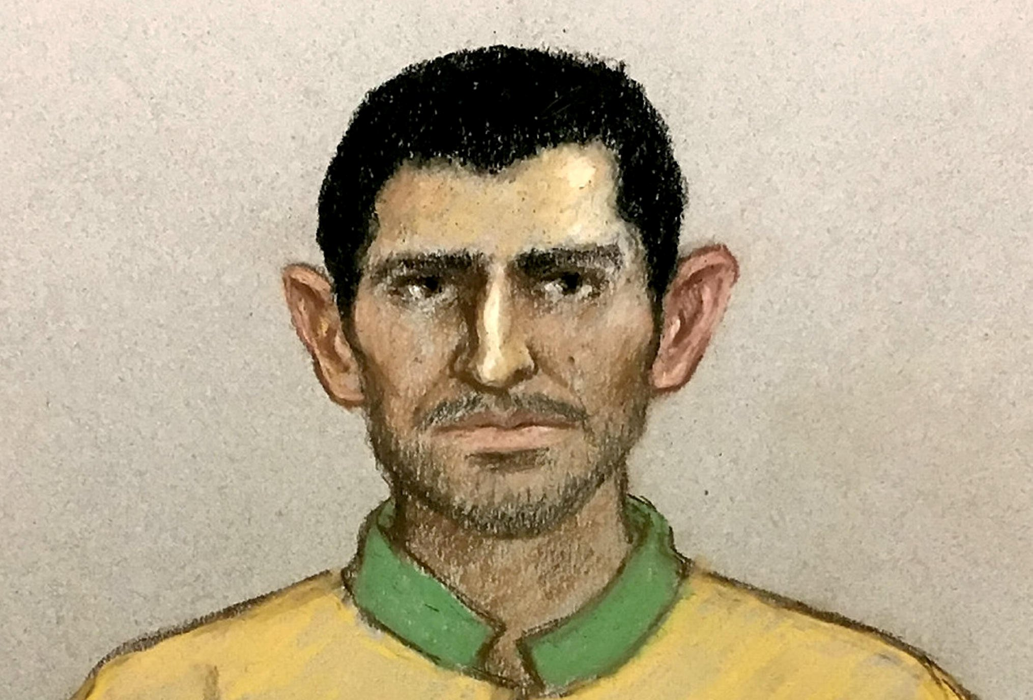 "Artists impression of Manuel Petrovic appearing at the Old Bailey, London, this morning. March 11, 2019. See NATIONAL story NNMURDER. A man accused of murdering a 17-year-old girl in a park has been remanded in custody ahead of a plea hearing. Jodie Chesney was walking with her friends and boyfriend on the evening of Friday, March 1, in Amy's Park in Harold Hill when she was attacked near a play area. The teenager, described by family as a ""proud geek"" and a ""great girl"", was pronounced dead at the scene. Manuel Petrovic, 20, was arrested in Leicester on Tuesday (March 5) and appeared at the Old Bailey this morning (Monday, March 11) charged with her murder."