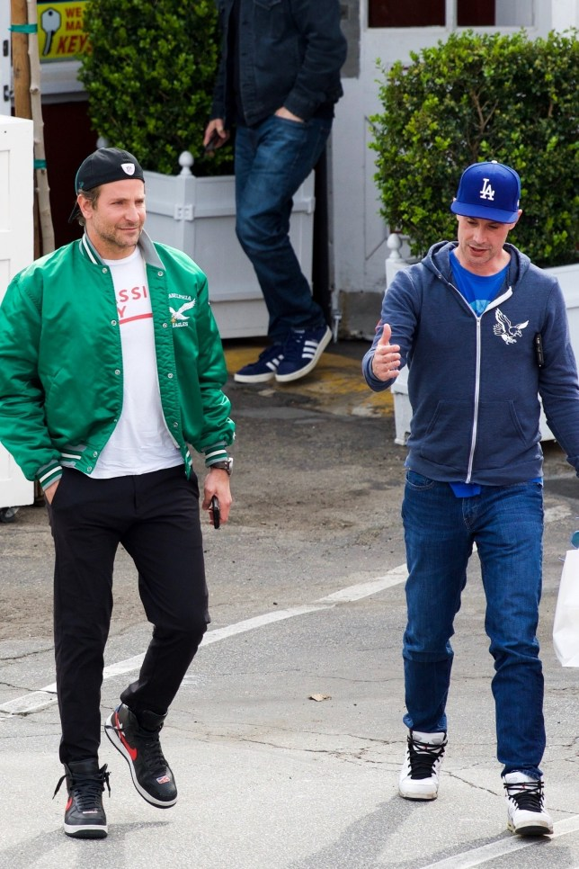 Los Angeles, CA - *EXCLUSIVE* - Bradley Cooper enjoys has breakfast with Freddie Prinze Jr. in Brentwood, CA. The duo look casual as they head back to their car after the meal. Pictured: Bradley Cooper, Freddie Prinze Jr. BACKGRID USA 11 MARCH 2019 BYLINE MUST READ: GAL / BACKGRID USA: +1 310 798 9111 / usasales@backgrid.com UK: +44 208 344 2007 / uksales@backgrid.com *UK Clients - Pictures Containing Children Please Pixelate Face Prior To Publication*