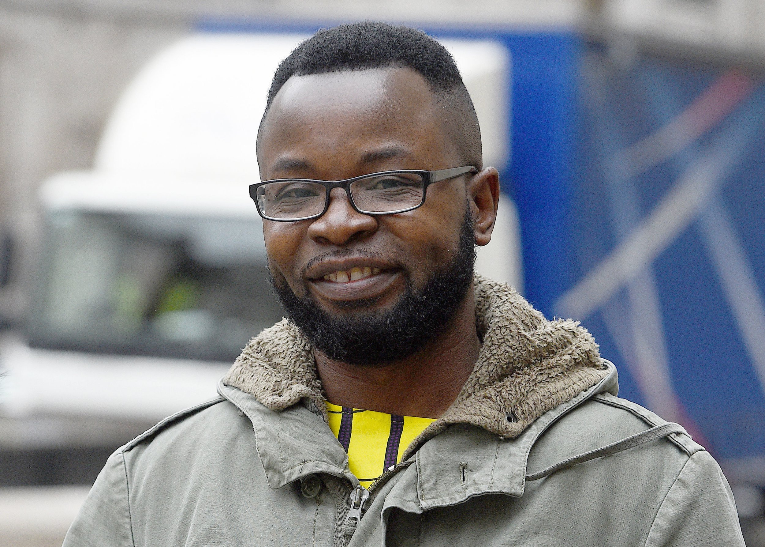 Felix Ngole arrives at the High Court in London, where he is challenging a ruling that he was lawfully removed from a Sheffield social work course after being accused of posting derogatory comments about homosexuals and bisexuals on a Facebook page. PRESS ASSOCIATION Photo. Picture date: Tuesday March 12, 2019. Ngole, of Barnsley, South Yorkshire, who said he was expressing a traditional Christian view and complained that Sheffield University bosses unfairly stopped him completing a postgraduate degree, has mounted an appeal after losing a High Court fight. In October 2017, Deputy High Court judge Rowena Collins Rice ruled that university bosses had acted within the law following a High Court trial in London. See PA story COURTS Sin. Photo credit should read: Kirsty O'Connor/PA Wire