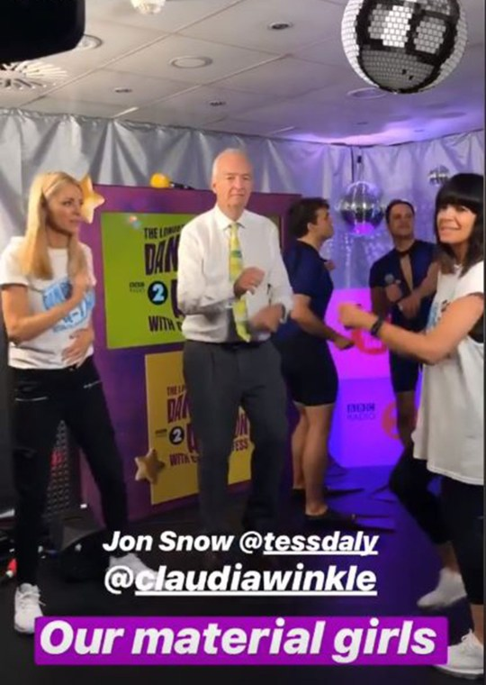 Tess Daly/Claudia Winkleman danceathon Picture: Comic Relief