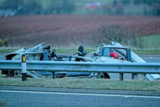 Three people killed after Megabus crashes with two cars on A90