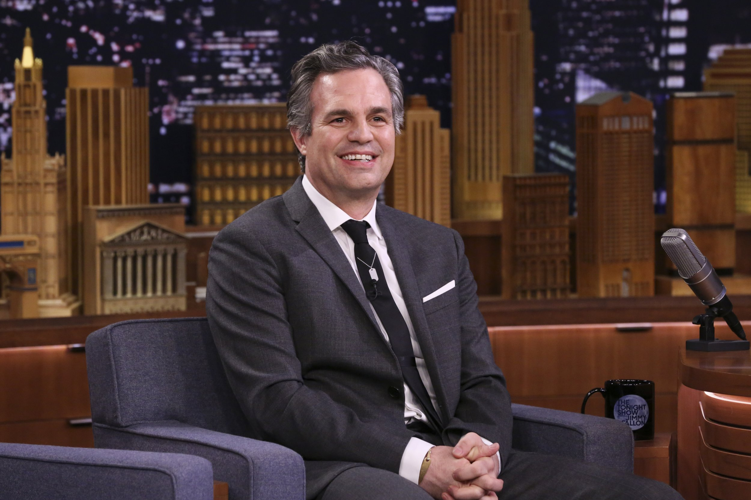 THE TONIGHT SHOW STARRING JIMMY FALLON -- Episode 1029 -- Pictured: Actor Mark Ruffalo during an talk on Mar 13, 2019 -- (Photo by: Andrew Lipovsky/NBC/NBCU Photo Bank around Getty Images)