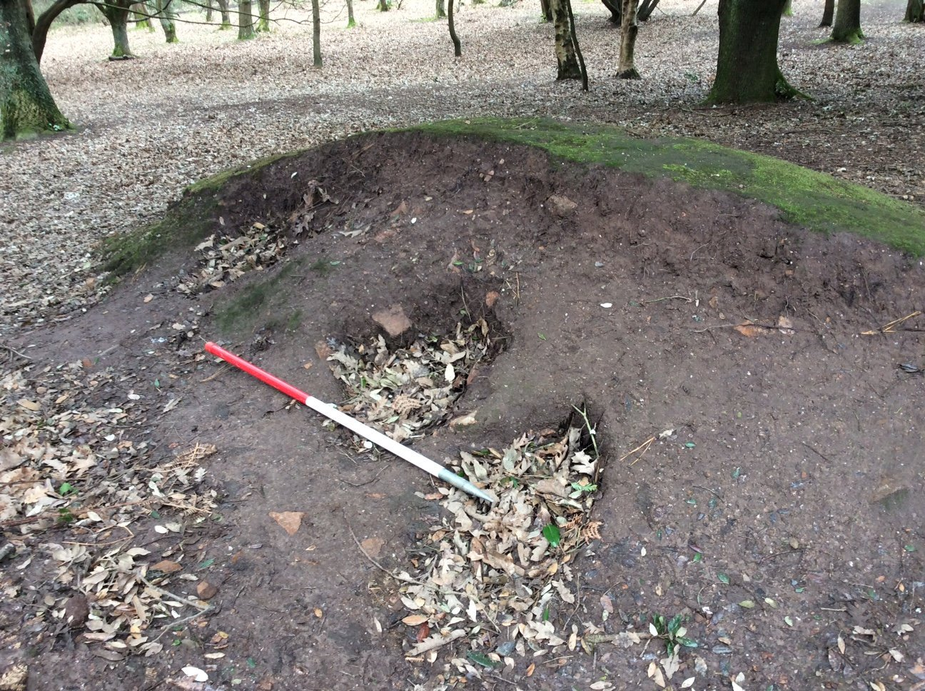 A metal detectorist has wrecked a 5,000 year-old stone monument by digging holes in a bid to uncover hidden artefacts. See SWNS story SWBRmetal; The man was spotted furiously digging at the Grade-I listed La Hougue de Vinde dolmen on the Channel Island of Jersey. The Neolithic site comprises a circular group of stones surrounded by a rubble wall near the southern tip of the island. An inspection found backfilled metal detecting holes in the centre of the chamber and targeted digging all over the site, particularly in the earthen banks and at the base of upright stones. Heritage organisations on Jersey say they are ?shocked and saddened? by the damage ?for what appears to be personal gain?.