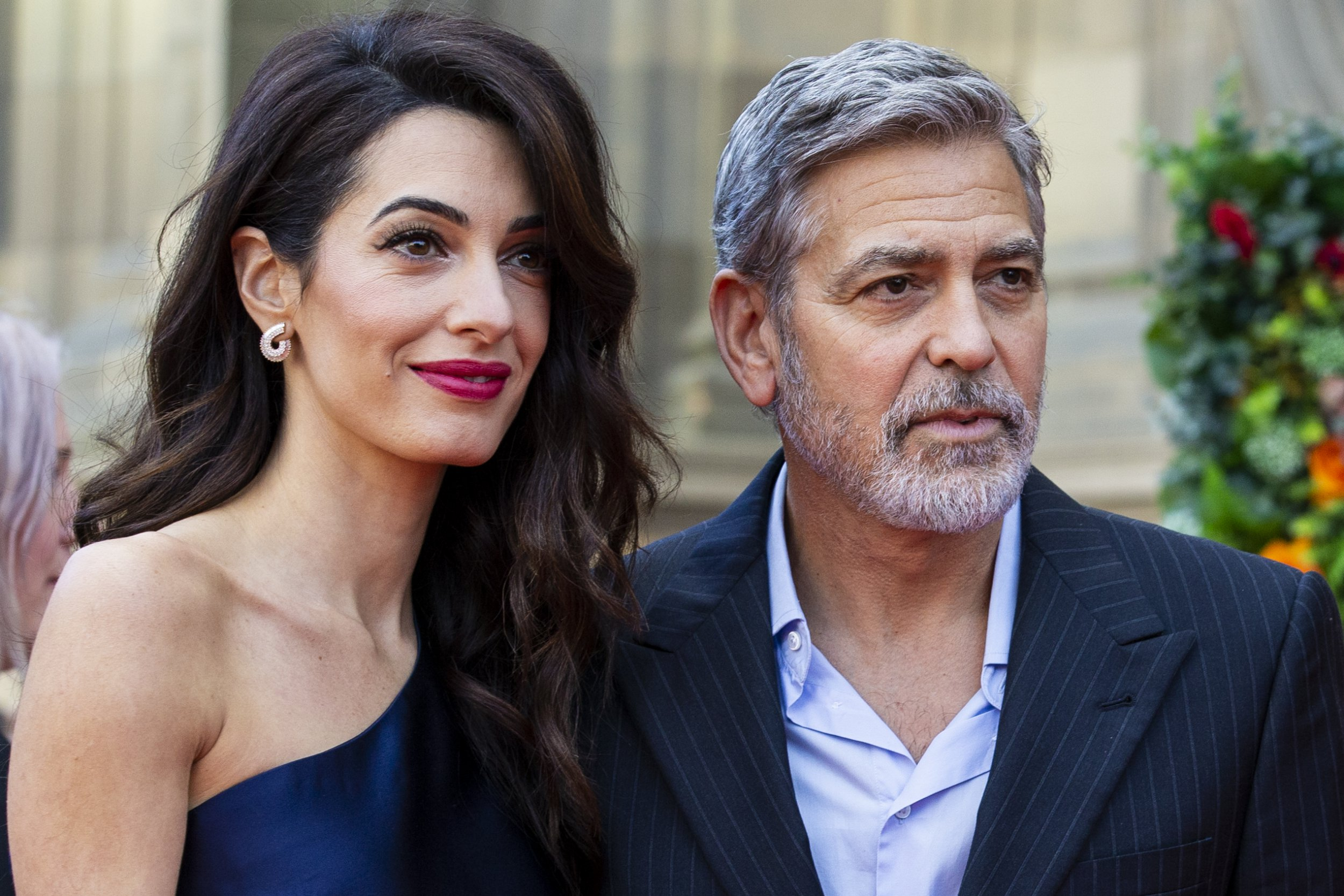 EDINBURGH, SCOTLAND - MARCH 14: George and Amal Clooney attend the Peoples Postcode Lottery Charity Gala at McEwan Hall on March 15, 2019 in Edinburgh, Scotland. The couple will be honoured for their international humanitarian work through the Clooney Foundation for Justice. (Photo by Duncan McGlynn/Getty Images)