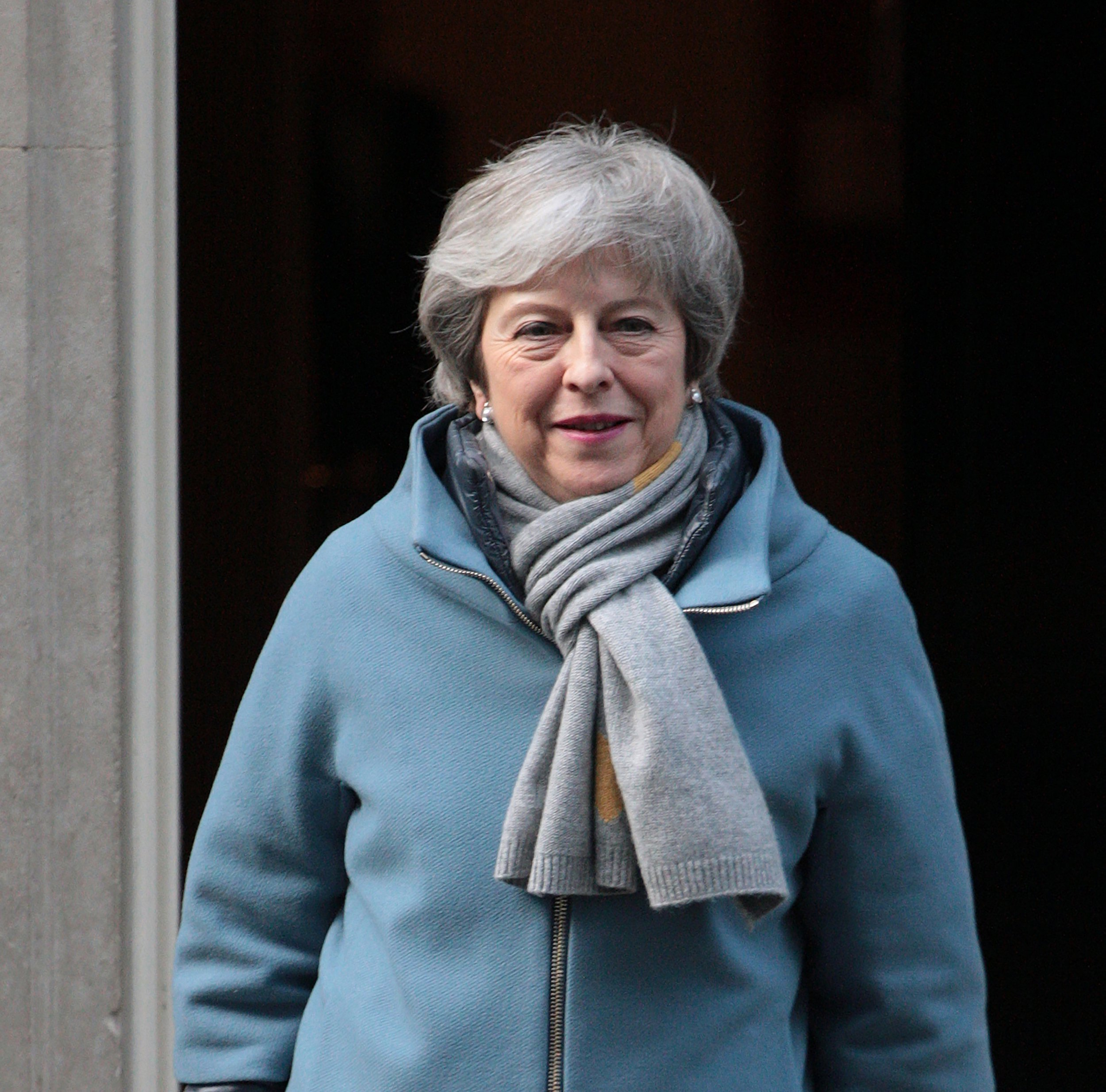 British Prime Minister Theresa May leaves No.10 Downing St to go the Houses of Parliament where MP???s will vote to extend Article 50 beyond the March 29th deadline, on March 14th 2019. Following the vote The European Union will have to decide whether to extend the Brexit deal. Photo by Hugo Philpott/UPIPHOTOGRAPH BY UPI / Barcroft Images