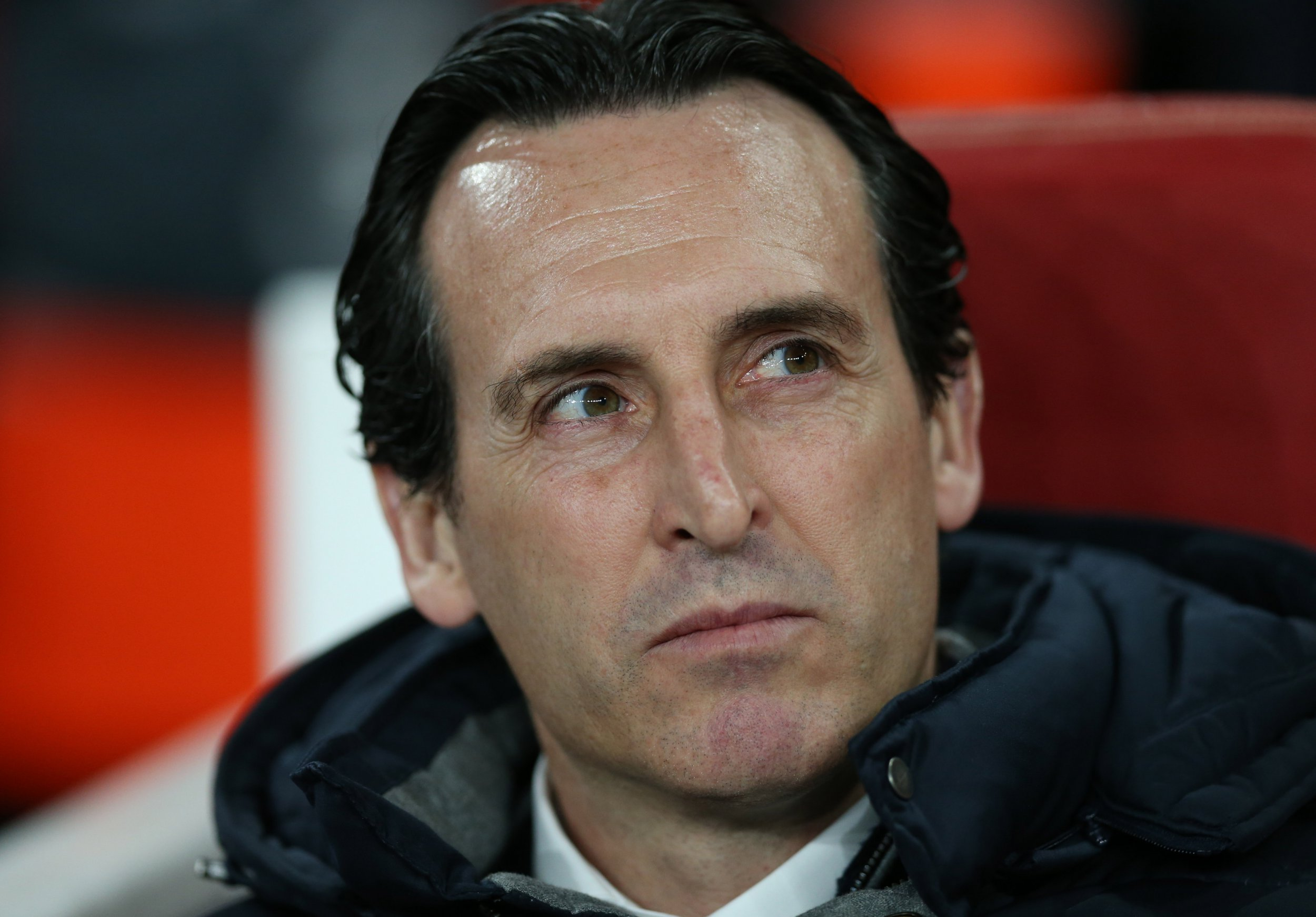 LONDON, ENGLAND - MARCH 14: Unai Emery, Manager of Arsenal looks on prior to the UEFA Europa League Round of 16 Second Leg match between Arsenal and Stade Rennais at Emirates Stadium on March 14, 2019 in London, England. (Photo by Alex Morton/Getty Images)