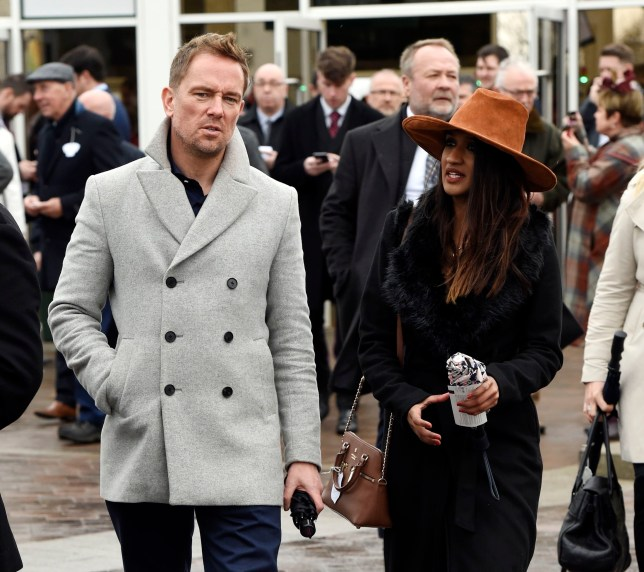 BGUK_1518277 - Cheltenham, UNITED KINGDOM - Simon Thomas and new girlfriend Derrina Jebb attending the Gold Cup day during day 3 of the 2019 Cheltenham festival. Pictured: Simon Thomas and new girlfriend Derrina Jebb BACKGRID UK 15 MARCH 2019 BYLINE MUST READ: James Watkins / BACKGRID UK: +44 208 344 2007 / uksales@backgrid.com USA: +1 310 798 9111 / usasales@backgrid.com *UK Clients - Pictures Containing Children Please Pixelate Face Prior To Publication*