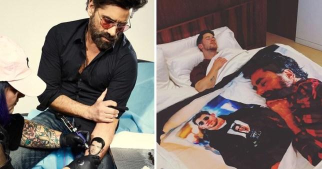 60a5ee9c33eee John Stamos ups stakes in Nick Jonas prank war with tattoo of singer's face