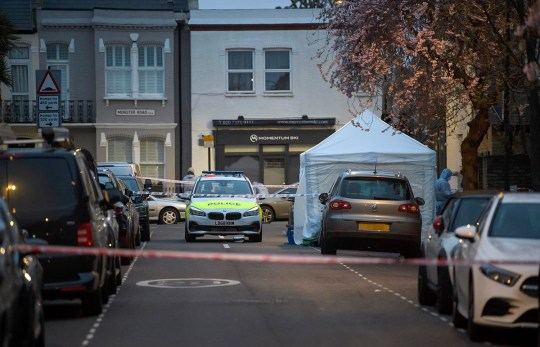? Licensed to London News Pictures. 16/03/2019. London, UK. The scene where a 9 year old man has been stabbed to death on Gowan Road in Fulham, West London. Photo credit: Ben Cawthra/LNP