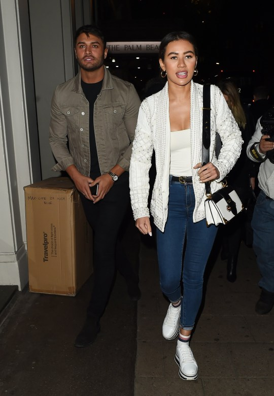 Mike Thalassitis and Montana Brown leave Sexy Fish restaurant in Mayfair Pictured: Mike Thalassitis,Montana Brown Ref: SPL5054490 100119 NON-EXCLUSIVE Picture by: Hewitt / SplashNews.com Splash News and Pictures Los Angeles: 310-821-2666 New York: 212-619-2666 London: 0207 644 7656 Milan: 02 4399 8577 photodesk@splashnews.com World Rights