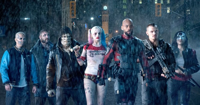 Boomerang-JAI COURTNEY; Deadshot-WILL SMITH; Harley Quinn-MARGOT ROBBIE; John F. Ostrander Federal Building; Killer Croc-ADEWALE AKINNUOYE-AGBAJE; Location; Rick Flagg-JOEL KINNAMAN