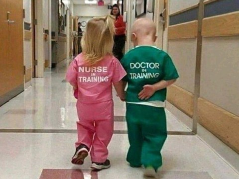 Picture of children dressed as 'nurse' and 'doctor' slammed as sexist